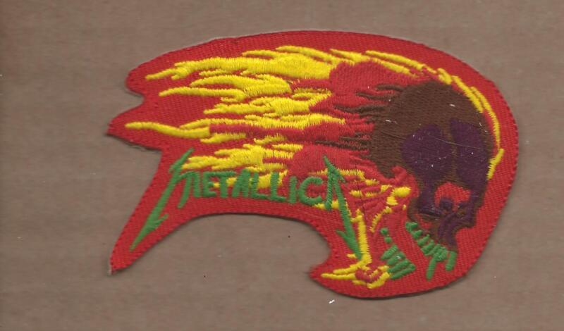 NEW 2 1/4 X 3 5/8 INCH METALLICA IRON ON PATCH FREE SHIPPING