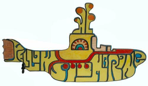 2D Wood intarsia Yellow Submarine Beatles Lennon McCartney Harrison Starr