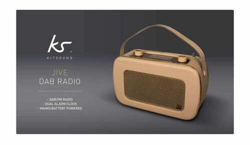 KitSound+Jive+DAB+portable+radio+rrp+%C2%A380+Gold+cream+BRAND+NEW+SEALED-