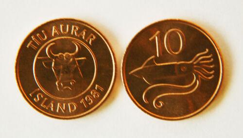 Iceland 1981 10 Aurar Uncirculated (KM25)