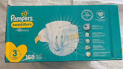 Diapers Size 3, 168 Count - Pampers Swaddlers Disposable Baby Diapers, ONE MONTH