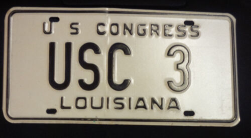 LOUISIANA U. S. CONGRESS USC-3 LICENSE PLATE