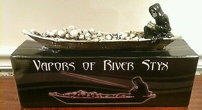 Grim Reaper Charon Skeleton Styx River Incense Burner Halloween](Halloween River)