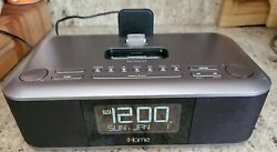 IHome Triple IPod IPhone Ipad Charger FM Radio Alarm Clock iD99 Alexa Echo Input