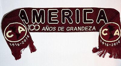 """CLUB AMERICA """"CENTENARIO"""" 64"""" SCARF (BUFANDA)- LAS AGUILAS MEXICO SOCCER/FUTBOL"""