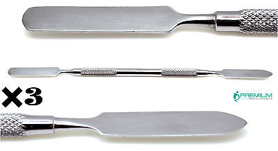 3 Dental Cement Spatula Mixing Lab Restorative Double Ended Instruments