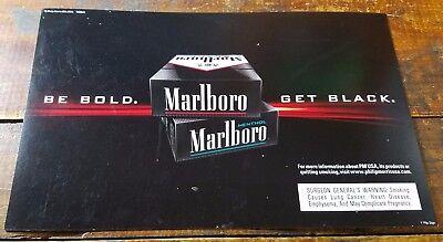 2012 Philip Morris Usa Marlboro Black Menthol Cigarettes Cardboard Paper Ad Sign