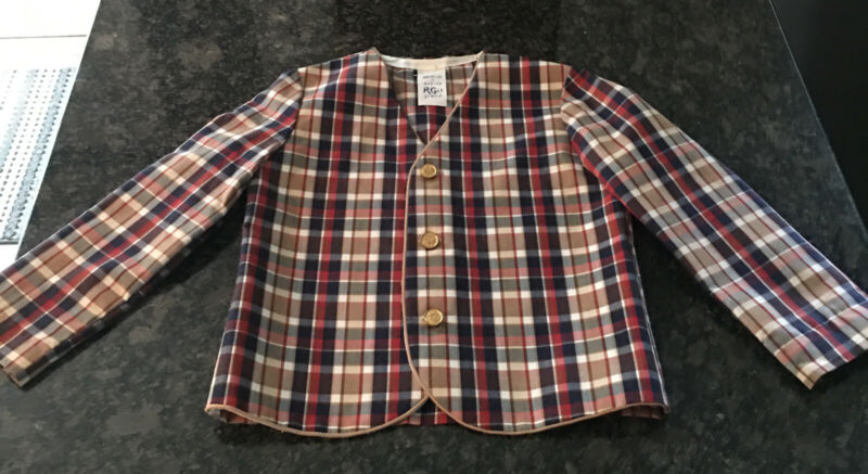 R-Gee Originals Boys Plaid Jacket Vintage Size 5