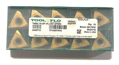 Tool-flo Carbide Inserts Tnmc 54 6p Vfj Int Grade Gp50c Indexable Insert 10 Pack