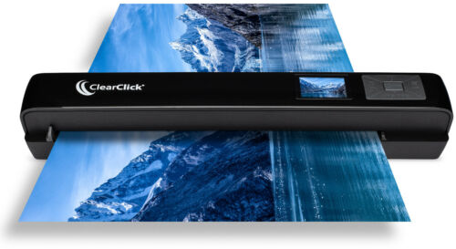 ClearClick Portable Photo Document Scanner with Autofeeder No Computer Required