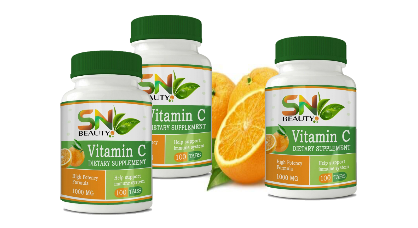 high Vitamin C 1000 mg., 500 Tablets, Immune System, Antioxidant 5 botles  4