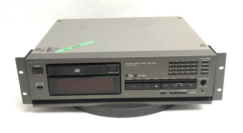 Sony CDP-2700 Professional Compact Disc Player Analog Digital Out w/ Rackmount