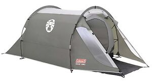 2 Man Tunnel Tent Compact Two Person Berth Camping Mountaineering Hiking Coleman