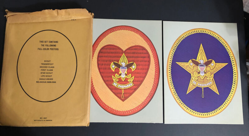 Vintage Scout Insignia Poster Set No.4647