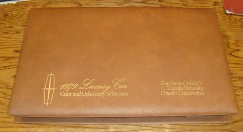 1979 Lincoln Color & Upholstery Selections Dealer Showroom Album 79 Mark V