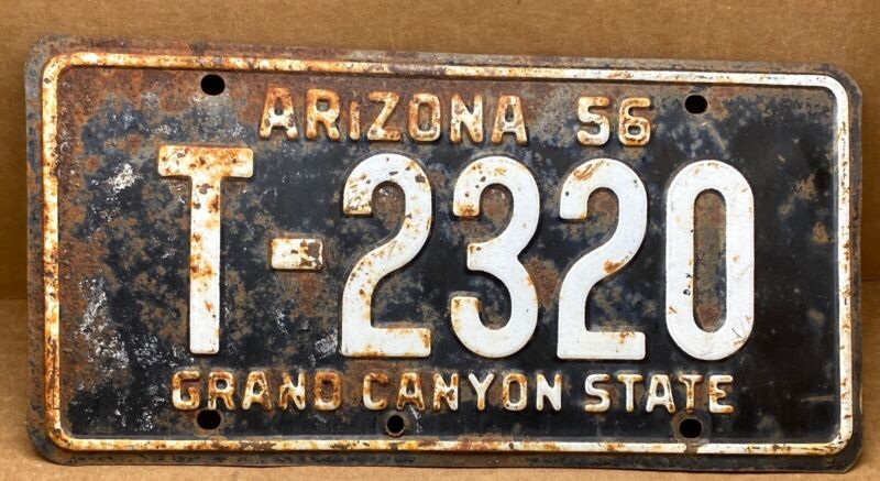 RARE 1956 ( T-2320 )ARIZONA  LICENSE PLATE