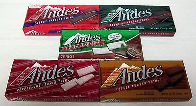 (Andes Candies 28 pc Boxes Cherry / Creme De Menthe / Mint / Peppermint / Toffee)