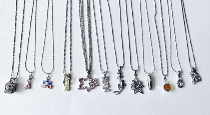 Wholesale Lot 12 Assorted Fashion Necklaces With Small Pendant