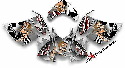 Ski-Doo REV XR1200 Custom Graphics Kit, Aircraft Pinup Decal Sticker Skidoo