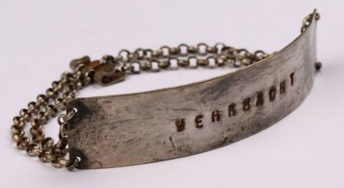 ww2 GERMAN Bracelet WWII Sterling SILVER Wehrmacht GERMANY Army MILITARY Officer