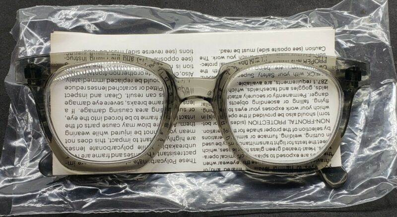 Vintage NOS American Optical Clear Lens Horn Rimmed Sure-Guard Safety Glasses