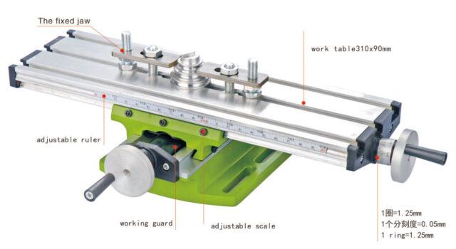 Diy Multi Function Milling Machine Mini Lathe With Cross Sliding Table 310 90mm