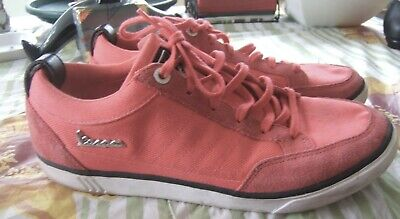 ADIDAS VESPA ORANGE / MAROON SIZE 8 TRAINERS EXCELLENT