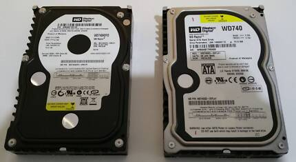 Western Digital WD740 Raptor 74GB 10,000 RPM HDDx2