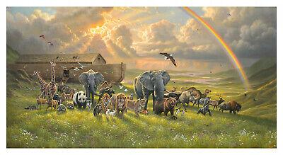 Noah's Ark Fabric (Noah's Ark After the Flood - 1 Quilt Panel)