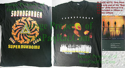 1994 Vintage Soundgarden Superunknown Tour T-Shirt XL Chris Cornell +Bin Bonus