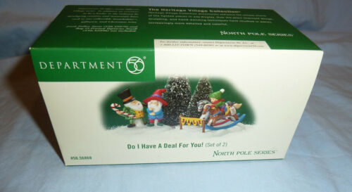 DEPARTMENT 56 DO I HAVE A DEAL FOR YOU!   MINT IN BOX  - NORTH POLE SERIES