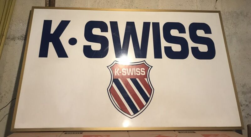 K Swiss Sneakers Large Metal Advertising Sign ( 60 x 36 Inches )