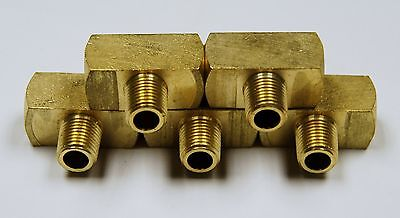 Brass Fittings Branch Tee Female Pipe Size 14 Male Pipe Size 14 Qty. 5