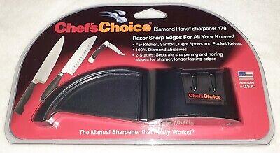 Chef's Choice Diamond Hone Compact 2-Stage Manual Knife Sharpener 478 Chefs Choice Diamond Hone Manual