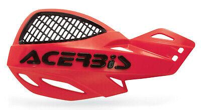 ACERBIS UNIKO VENTED HANDGUARDS RED BLACK MOTOCROSS MX ENDURO CHEAP PAIR + KIT