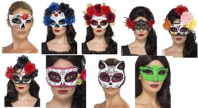 Women's Day Of The Dead Fancy Dress Masks Halloween Horror Hen Night Fun Theme