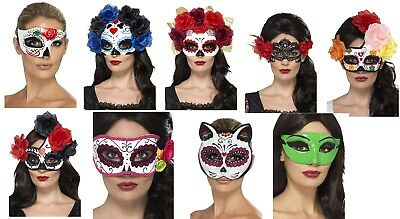 Women's Day Of The Dead Fancy Dress Masks Halloween Horror Hen Night Fun Theme ](1980s Themed Halloween Costumes)