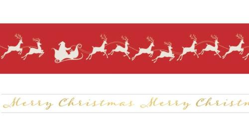 Paper House CHRISTMAS Set of (2) Rolls WASHI TAPE SANTA & REINDEER