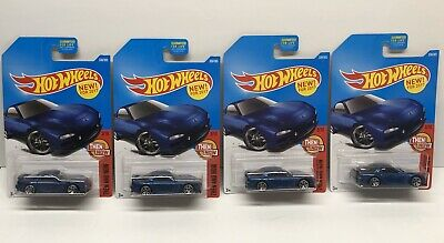 Lot Of 4 - Hot Wheels - 2017 Then and Now '95 Mazda Rx-7 - Blue - 336/365 x4