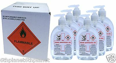 Box of 6 x 500ml Cleenol 70% Alcohol Hand Sanitizing Gel dispensing bottles