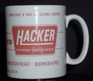 Hacker Radio advert mug, Ideal Birthday present . fast delivery