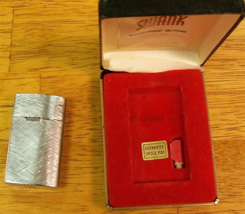 Swank Vintage Butane Lighter In Case