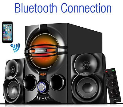 $79.99 - New Boytone Bluetooth Home Theater 2.1 Speaker System w/ FM,SD,USB,AUX & Remote