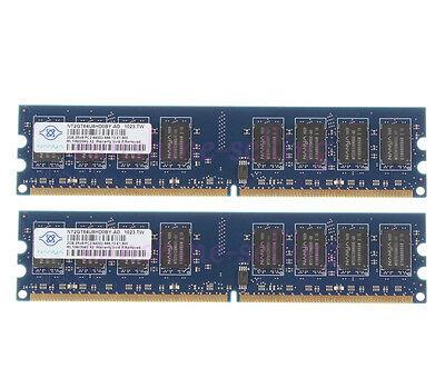 Nanya 4GB 2X 2GB DDR2 2RX8 800MHz PC2-6400U 240PIN DIMM RAM Desktop...