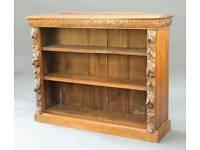 Green Man oak bookcase