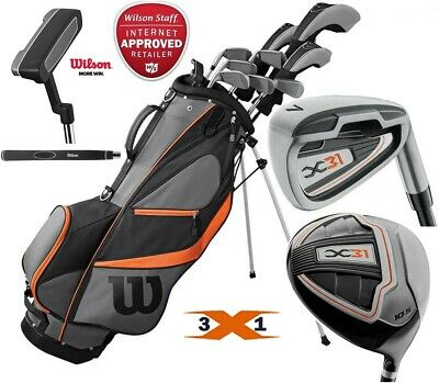 WILSON X31 MENS ALL GRAPHITE COMPLETE GOLF SET & DELUXE STAND BAG NEW