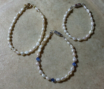 Little Girl/Child Freshwater Pearl Bracelets Gold Fill Gold/Silver Plate $5.25+
