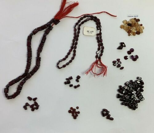 Lot of carved genuine garnet beads faceted and smooth 5mm-11mm hesonite #2Z