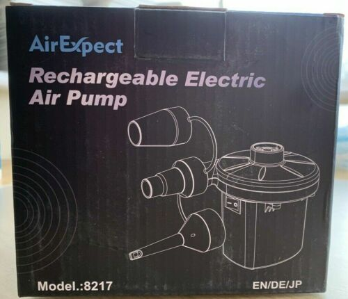 Air Expert Rechargeable Electric Air Pump Inflatable Camping Airbed Mattress