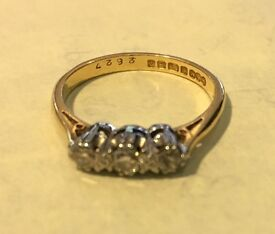 18 Carrot Gold Engagement Ring